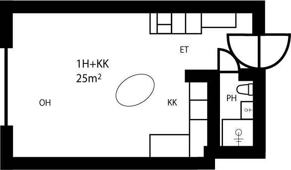 Kiviharjuntie 10D yksio 25m2